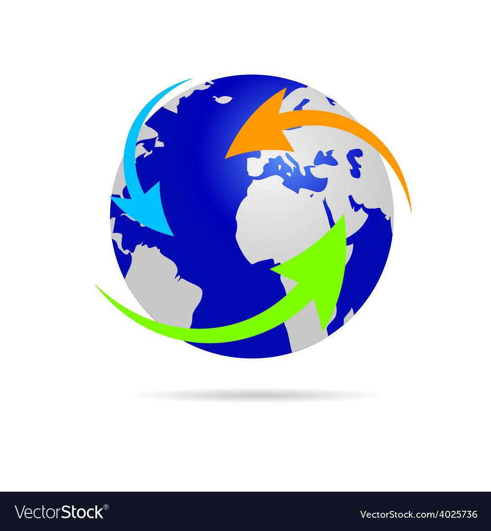 Earth planet globe vector | Price: 1 Credit (USD $1)