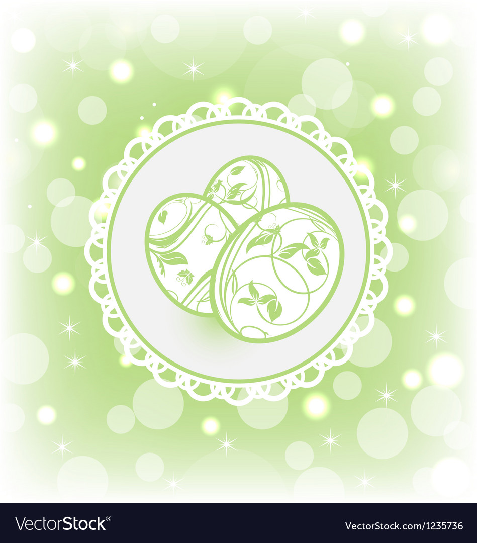 Easter card with ornate eggs vector | Price: 1 Credit (USD $1)