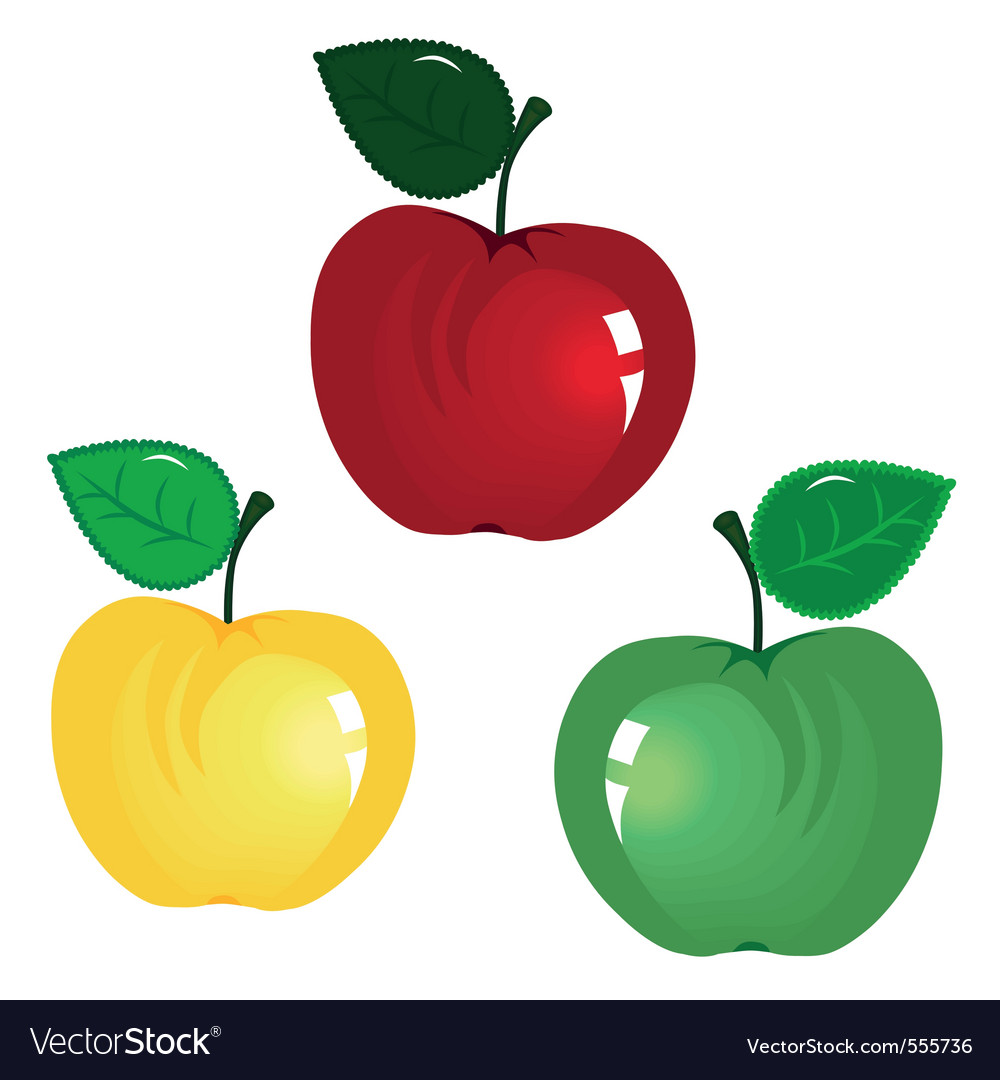 Fruit icon apple isolated on white background elem vector | Price: 1 Credit (USD $1)