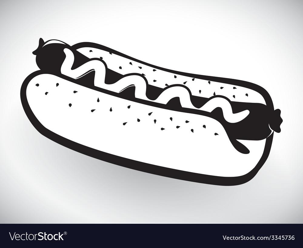 Hot dog design vector | Price: 1 Credit (USD $1)