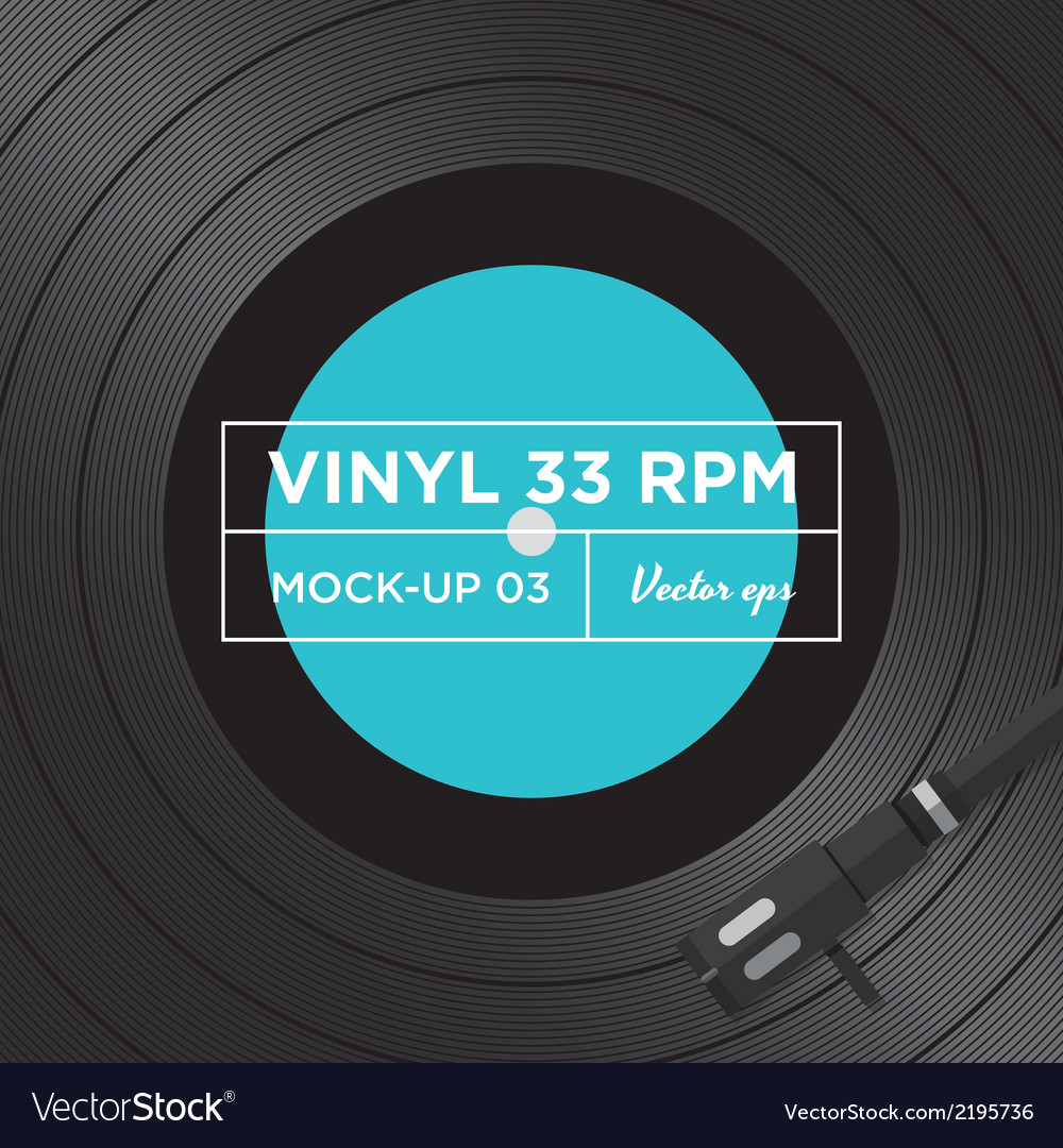 Vinyl 33 rpm mockup 03 vector | Price: 1 Credit (USD $1)