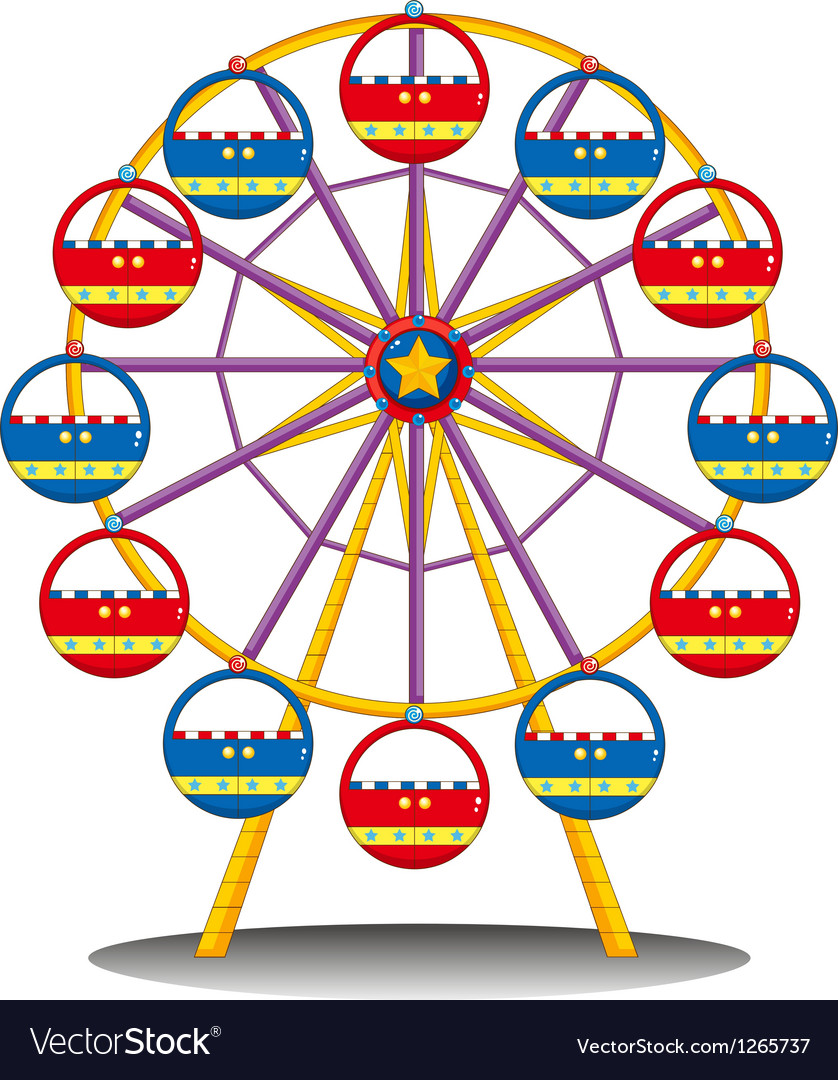 A ferris wheel vector | Price: 1 Credit (USD $1)