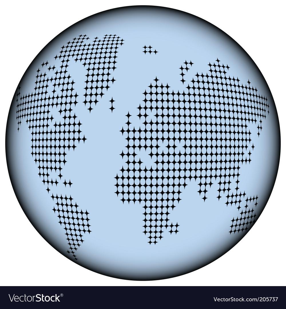 Earth globe icon vector   Price: 1 Credit (USD $1)