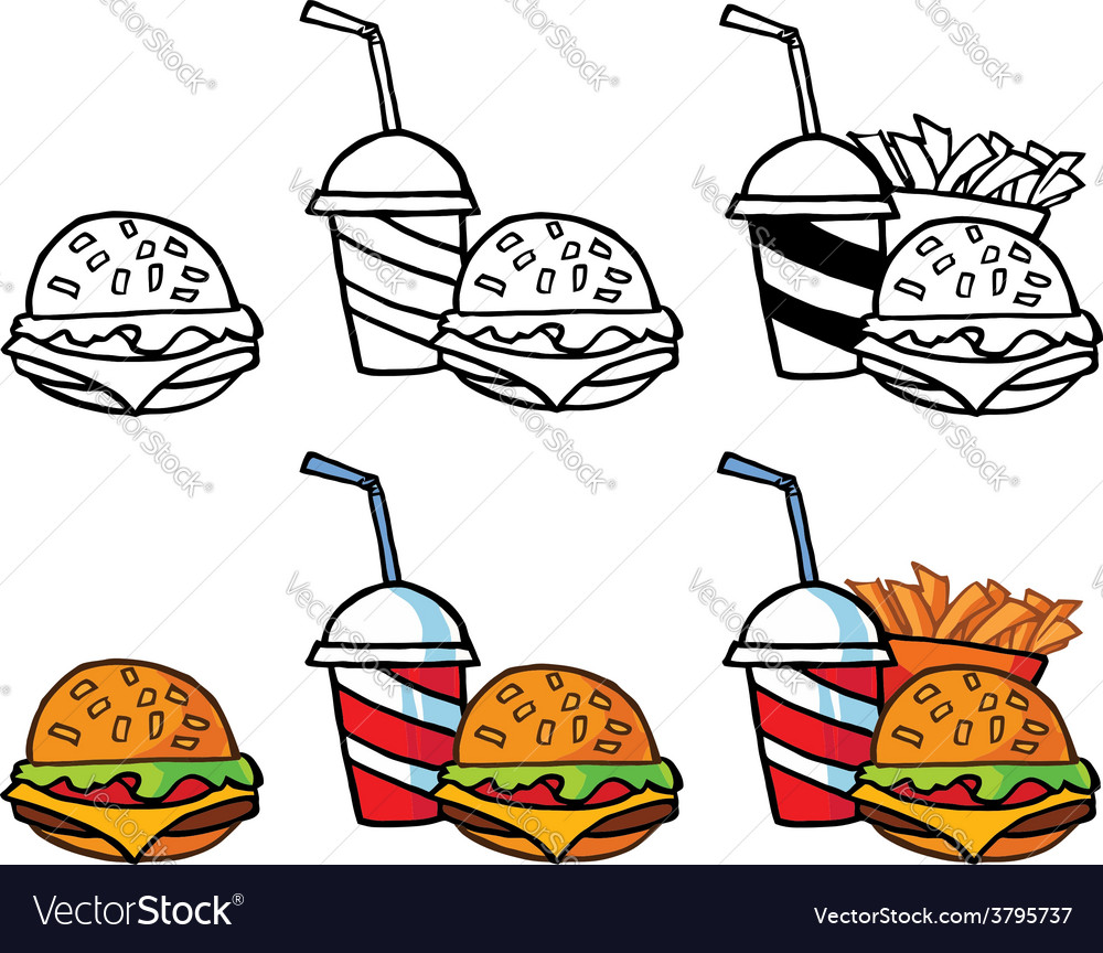 Fast food designs vector | Price: 1 Credit (USD $1)