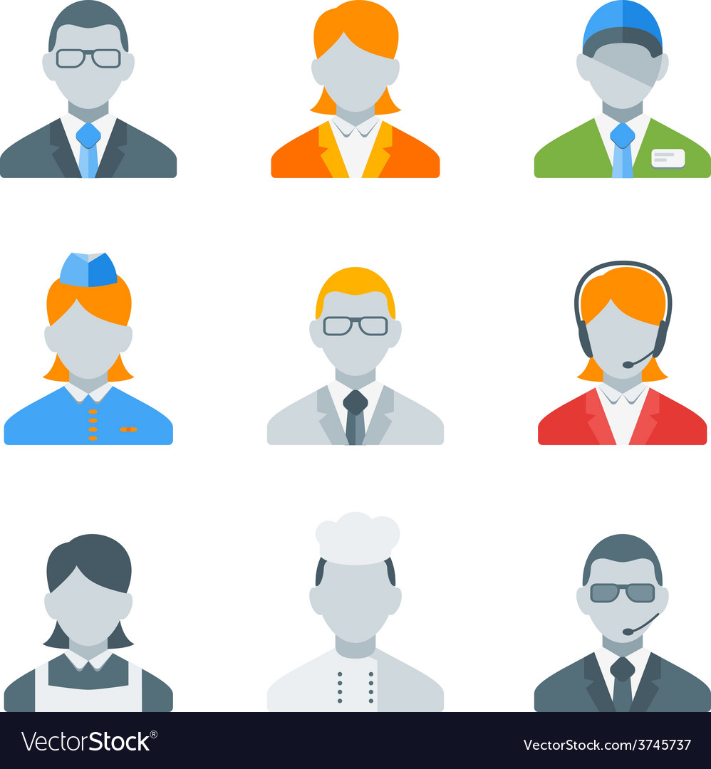Flat style icon set for web and mobile application vector | Price: 1 Credit (USD $1)
