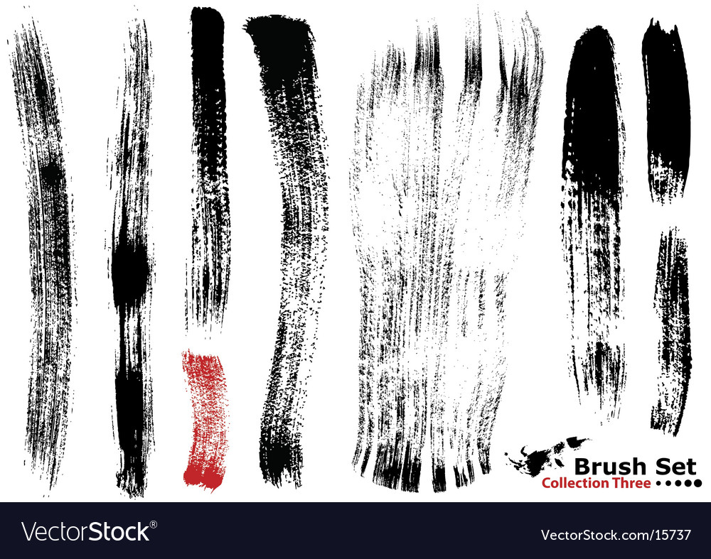 Highly detailed illustration brushes vector | Price: 1 Credit (USD $1)