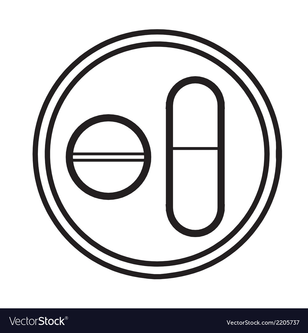Medicine pills symbol icon vector | Price: 1 Credit (USD $1)