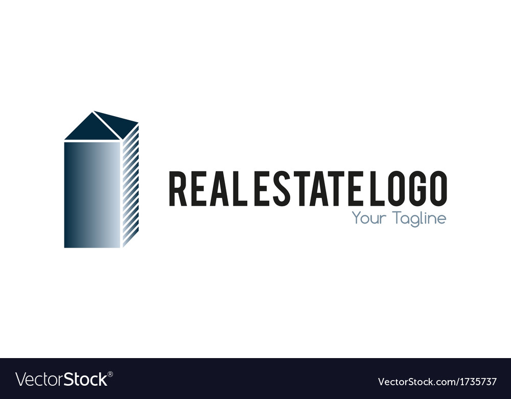 Real estate logo metallic vector | Price: 1 Credit (USD $1)
