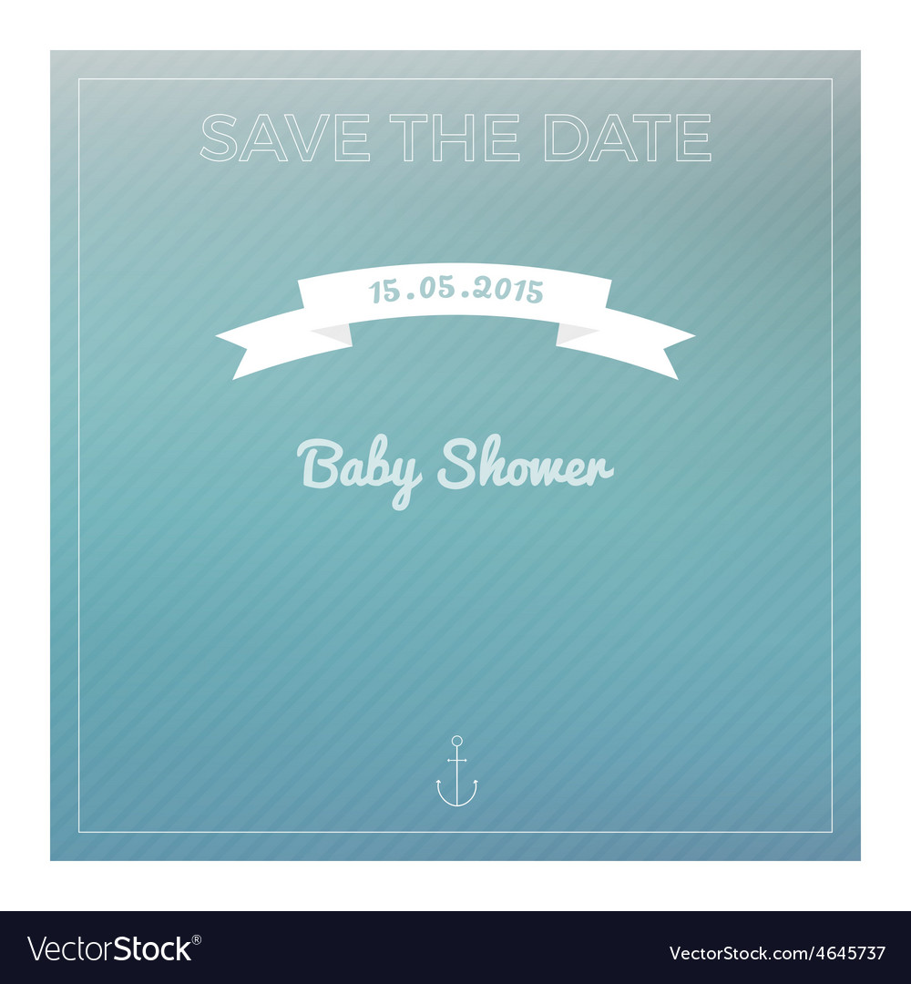 Save the date baby shower card vector | Price: 1 Credit (USD $1)
