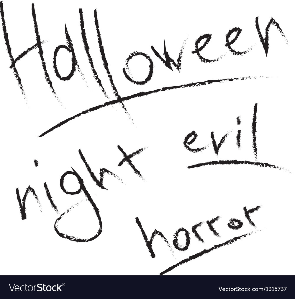 Scratched letters for halloween design vector | Price: 1 Credit (USD $1)