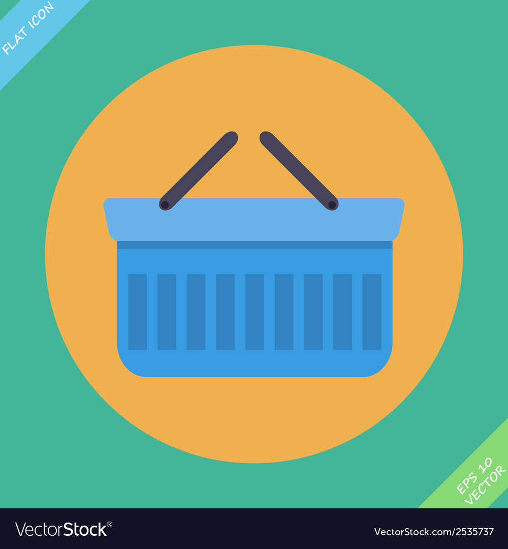 Shopping basket icon - vector | Price: 1 Credit (USD $1)