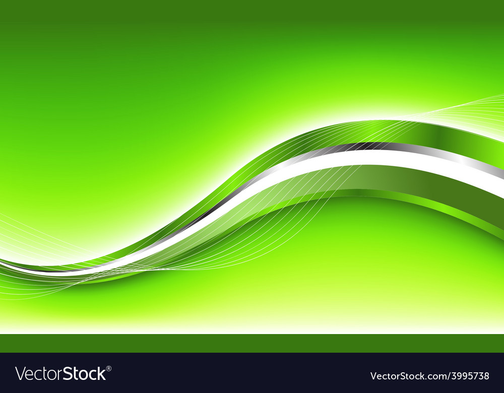 Abstract green background with wave vector | Price: 1 Credit (USD $1)