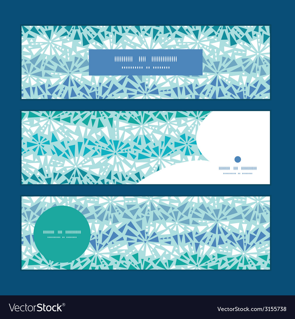 Abstract ice chrystals texture horizontal banners vector | Price: 1 Credit (USD $1)