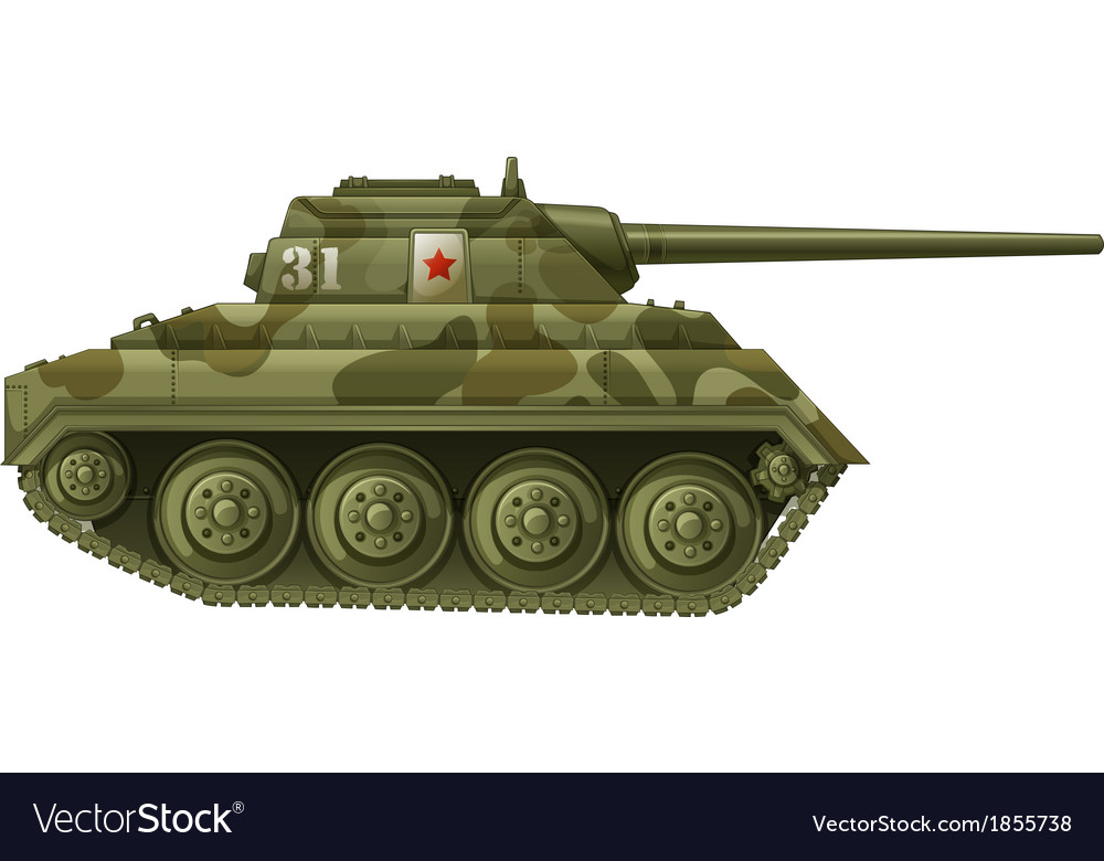 An armoured tank vector | Price: 1 Credit (USD $1)