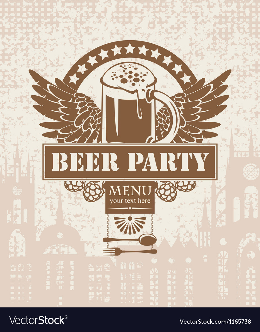 Banner with a beer vector | Price: 1 Credit (USD $1)