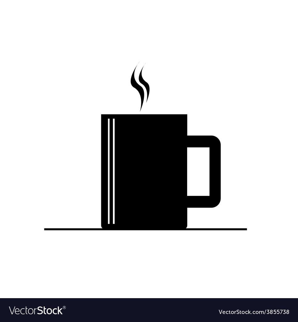 Coffee cup hot black vector | Price: 1 Credit (USD $1)