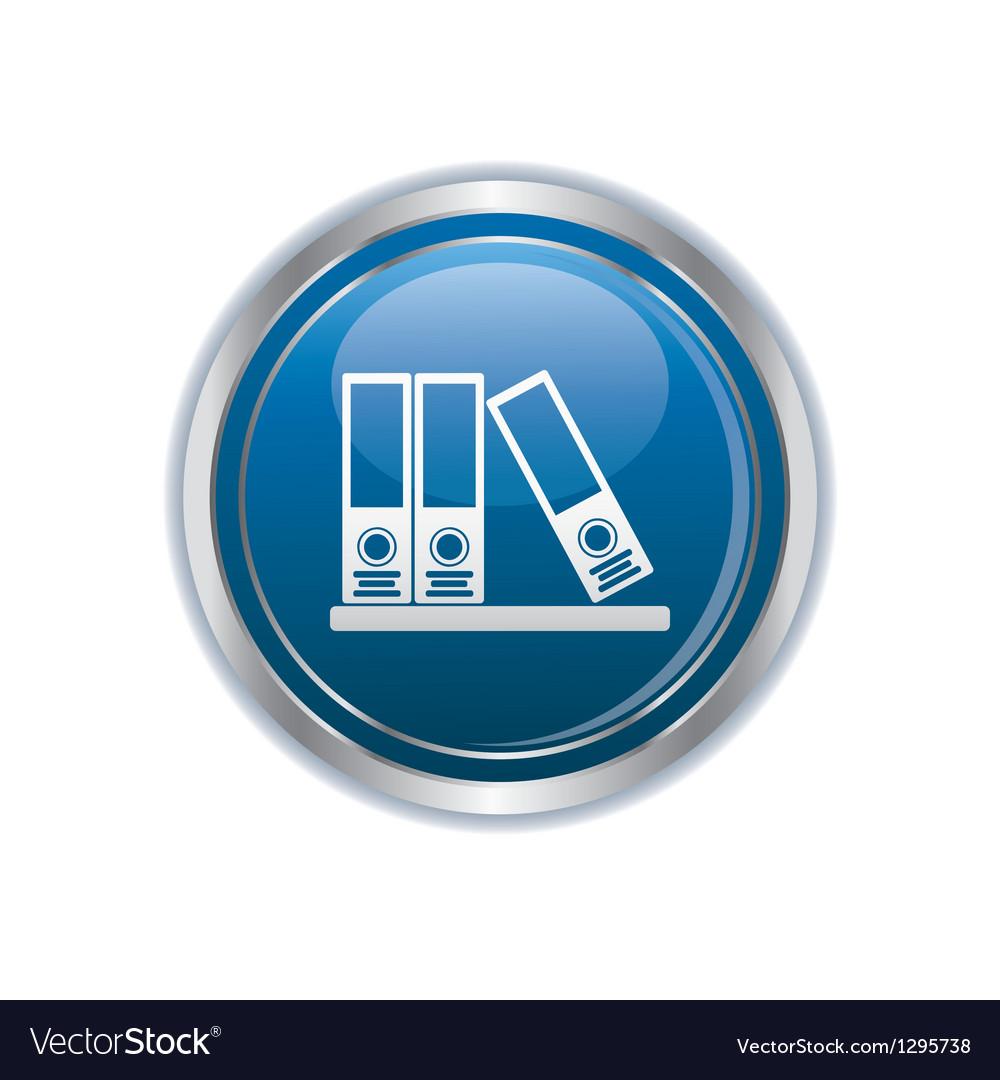 Folders on a shelf icon vector | Price: 1 Credit (USD $1)