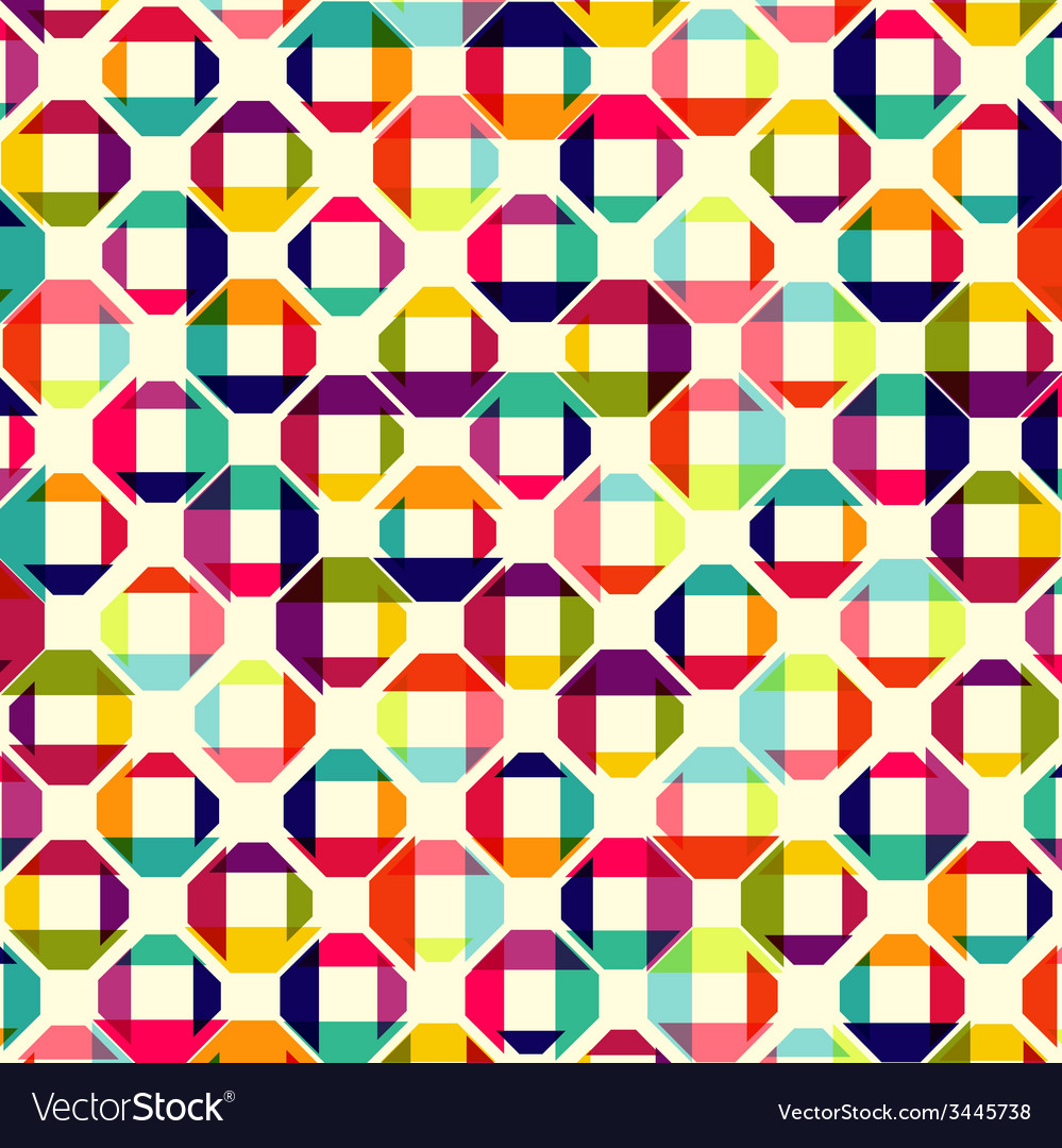 Pattern of colored geometric elements vector | Price: 1 Credit (USD $1)