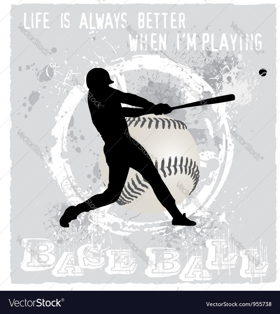 Playing baseball vector