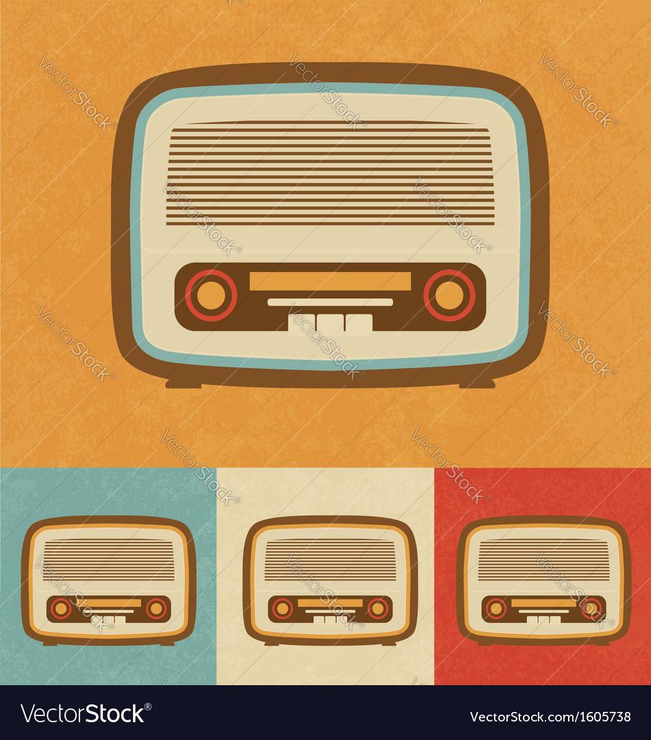 Retro icons - old radio vector | Price: 1 Credit (USD $1)
