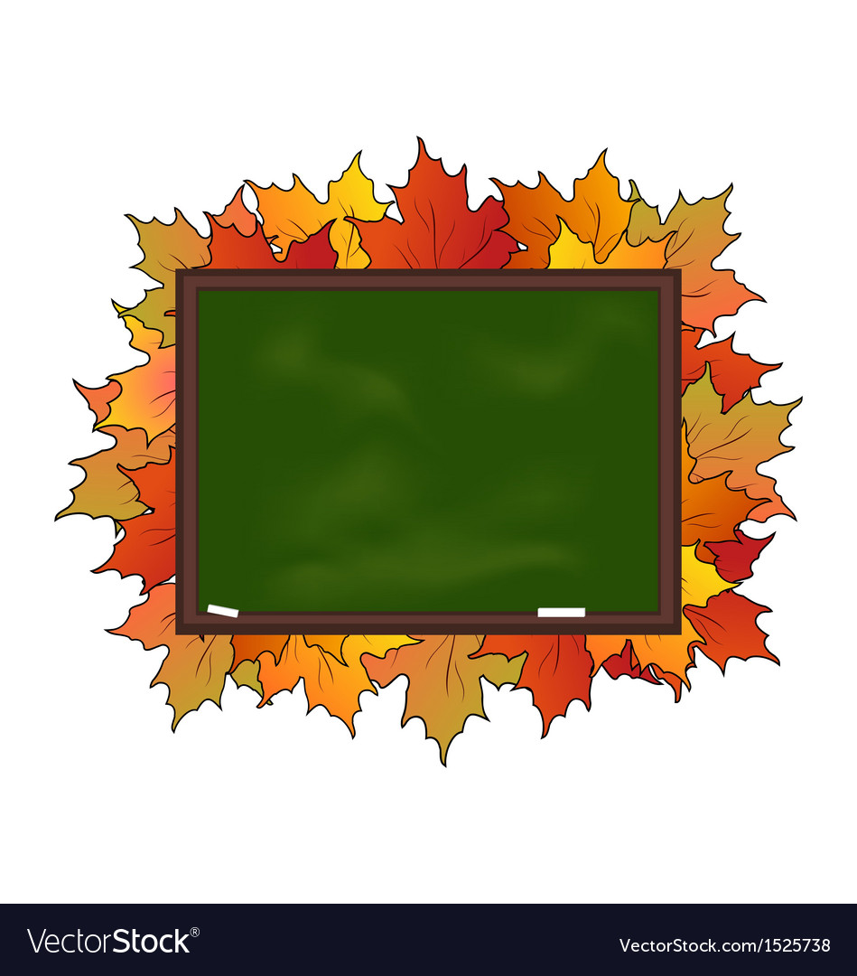 School board with maple leaves vector | Price: 1 Credit (USD $1)