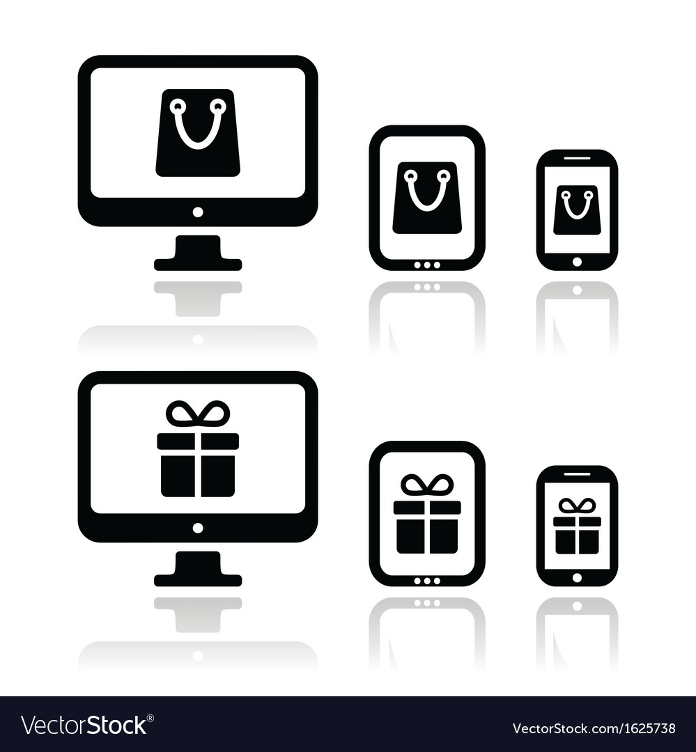 Shopping online internet shop icons set vector | Price: 1 Credit (USD $1)
