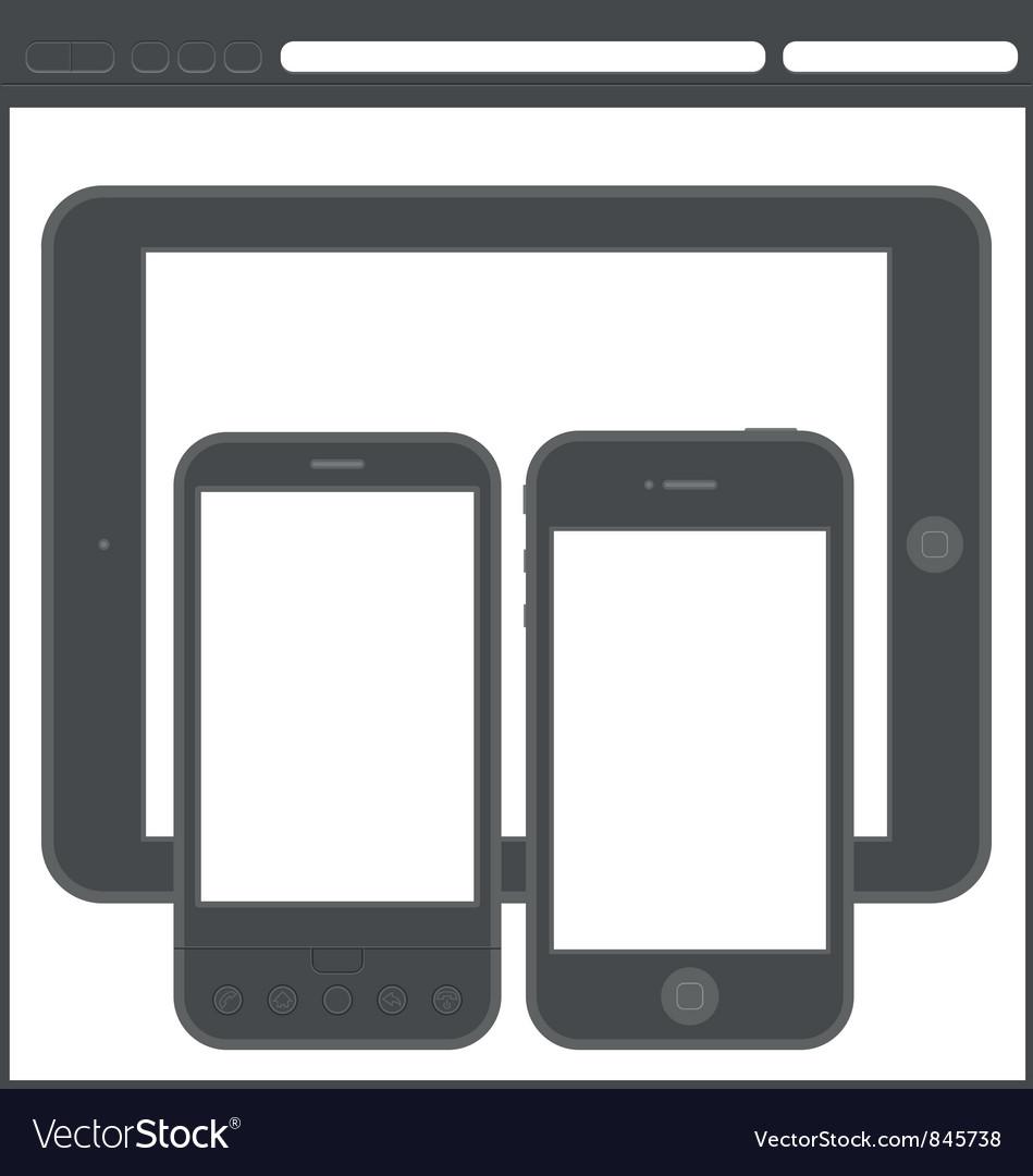 Smartphone layout vector | Price: 1 Credit (USD $1)