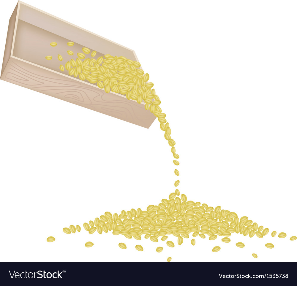 Split peas dropped from a wooden container vector | Price: 1 Credit (USD $1)