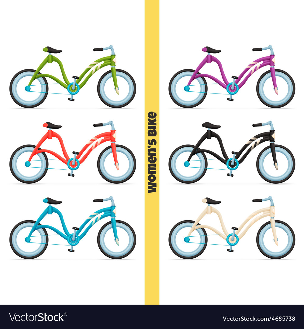 Womens bike two vector | Price: 1 Credit (USD $1)