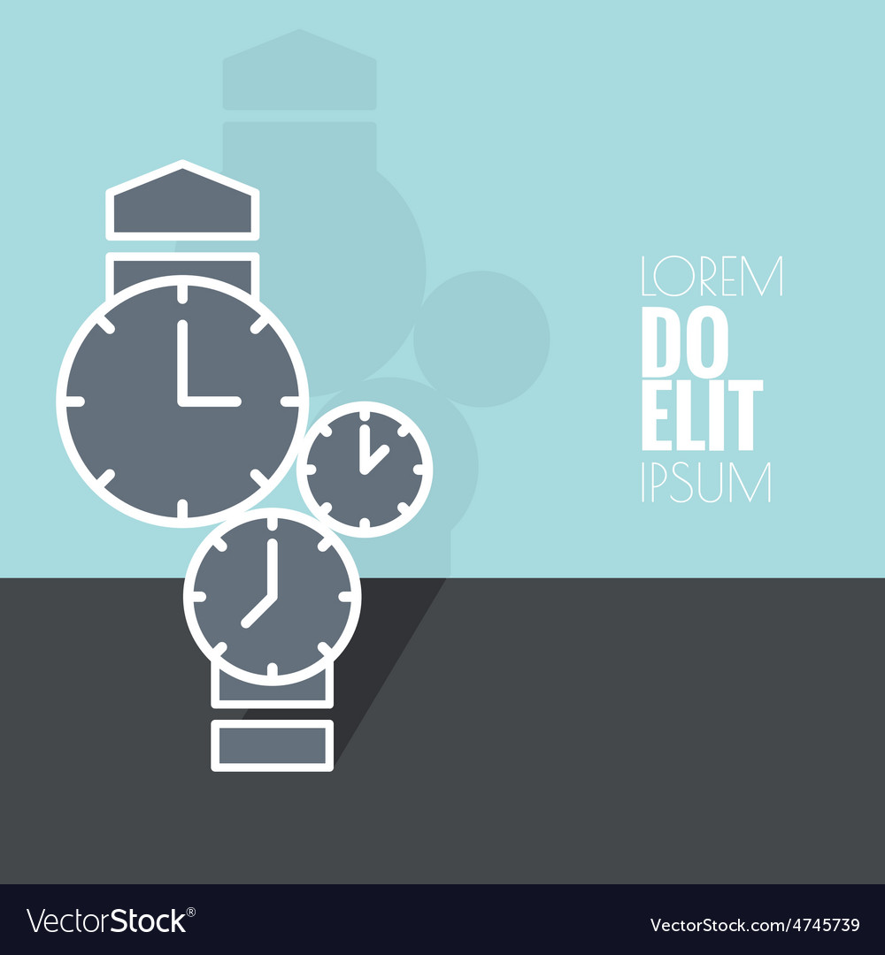 Abstract background with the clock vector   Price: 1 Credit (USD $1)
