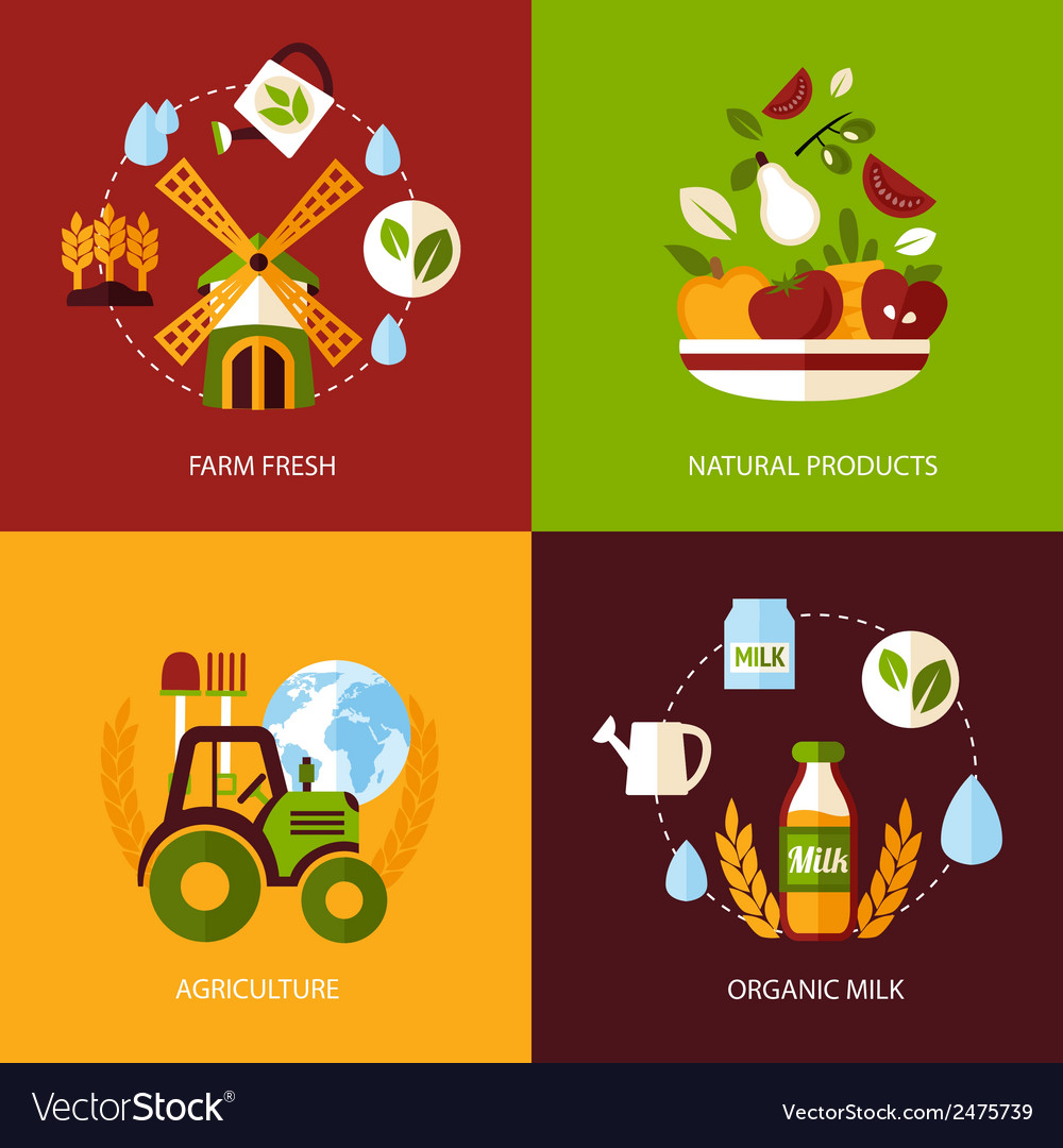 Agriculture icon set vector | Price: 3 Credit (USD $3)