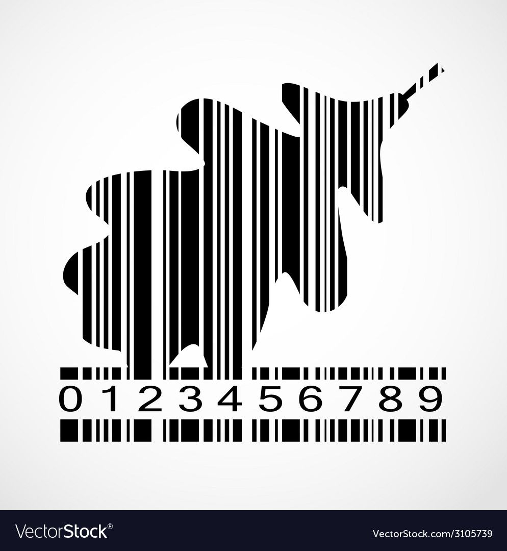 Barcode autumn leaf image vector | Price: 1 Credit (USD $1)