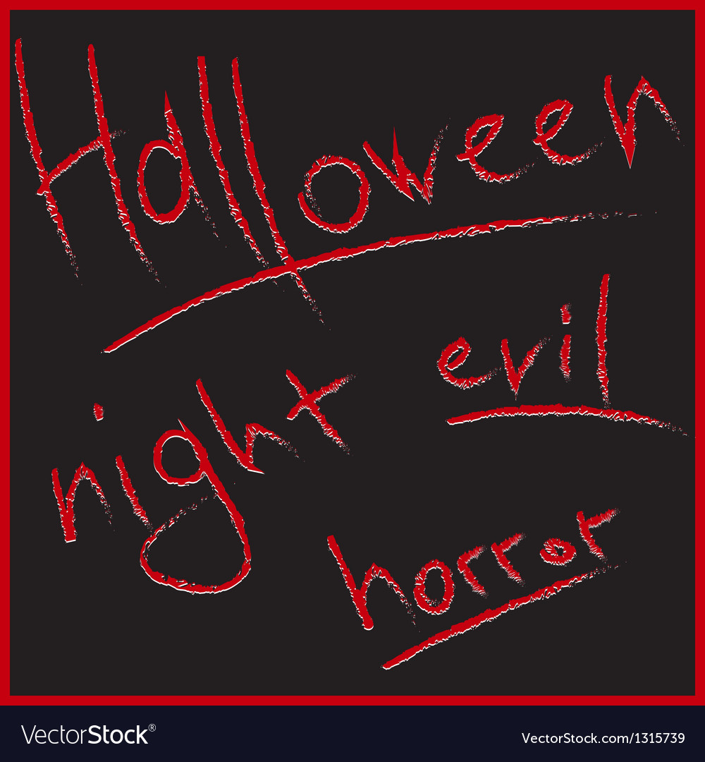 Bloody letters for halloween design vector | Price: 1 Credit (USD $1)