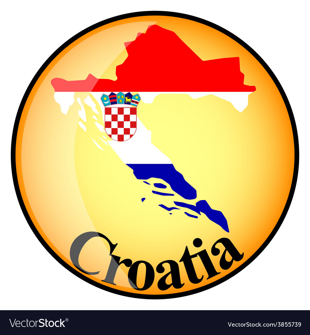 Button croatia vector | Price: 1 Credit (USD $1)