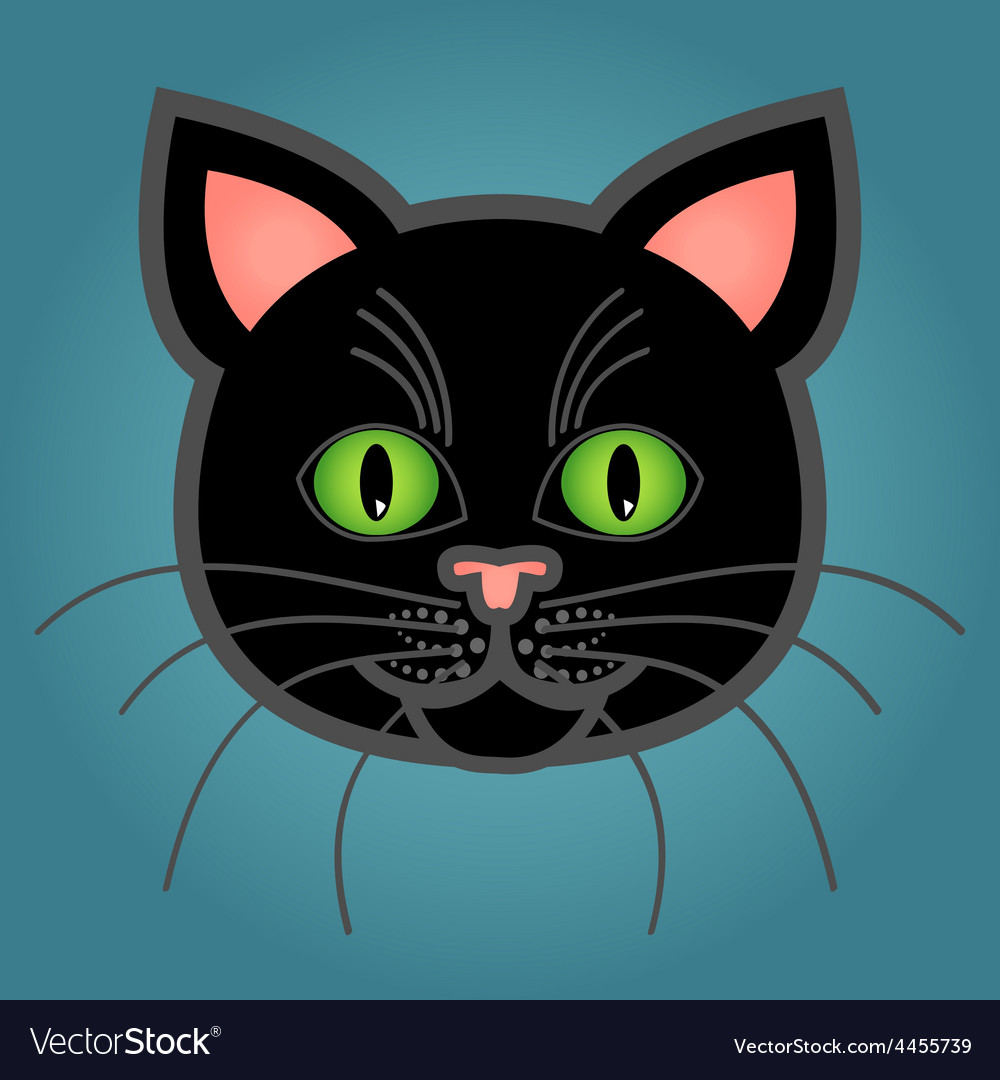 Cartoon black cat vector | Price: 1 Credit (USD $1)