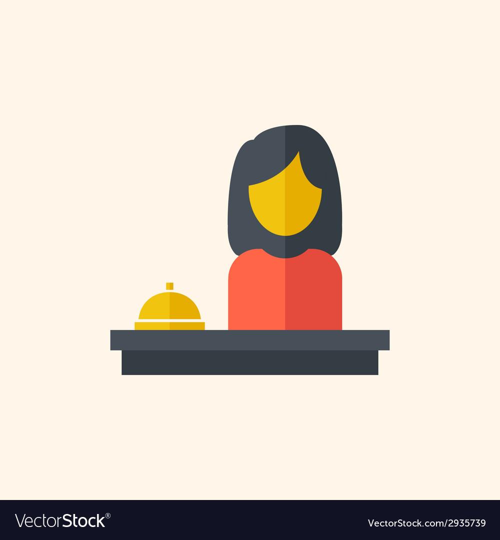 Hotel desk travel flat icon vector | Price: 1 Credit (USD $1)