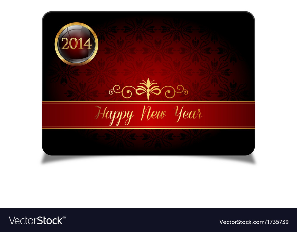 Red new year celebrate card vector | Price: 1 Credit (USD $1)