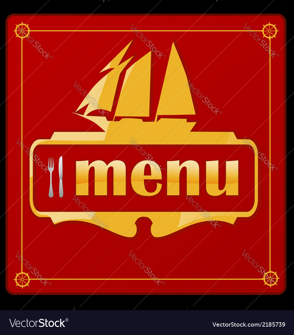 Sail ship menu vector | Price: 1 Credit (USD $1)