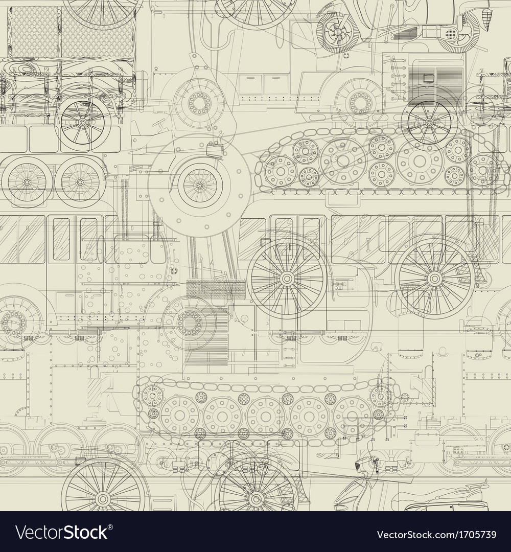 Seamless pattern vehicles design vector | Price: 1 Credit (USD $1)