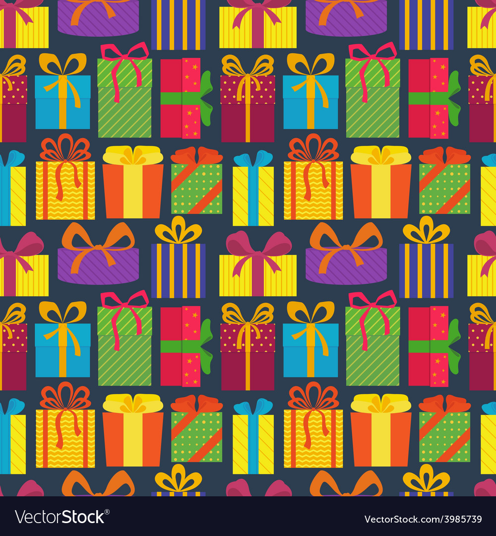 Seamless pattern with gifts vector | Price: 1 Credit (USD $1)