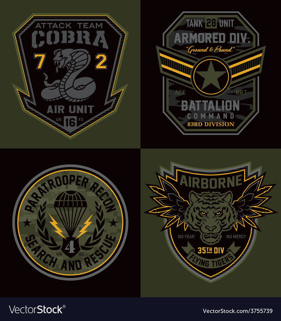 Special unit military emblems graphics vector | Price: 1 Credit (USD $1)