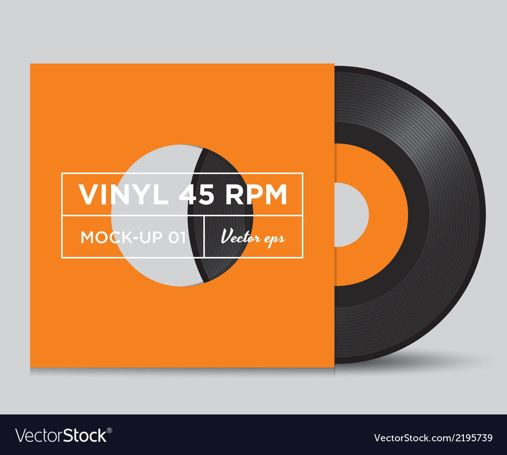 Vinyl 45 rpm mockup 01 vector | Price: 1 Credit (USD $1)