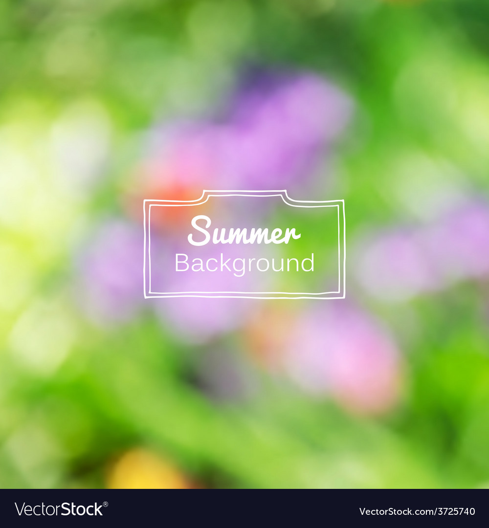 Blurred nature summer green background vector | Price: 1 Credit (USD $1)