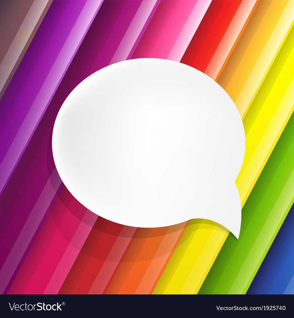 Color background with speech bubble vector | Price: 1 Credit (USD $1)