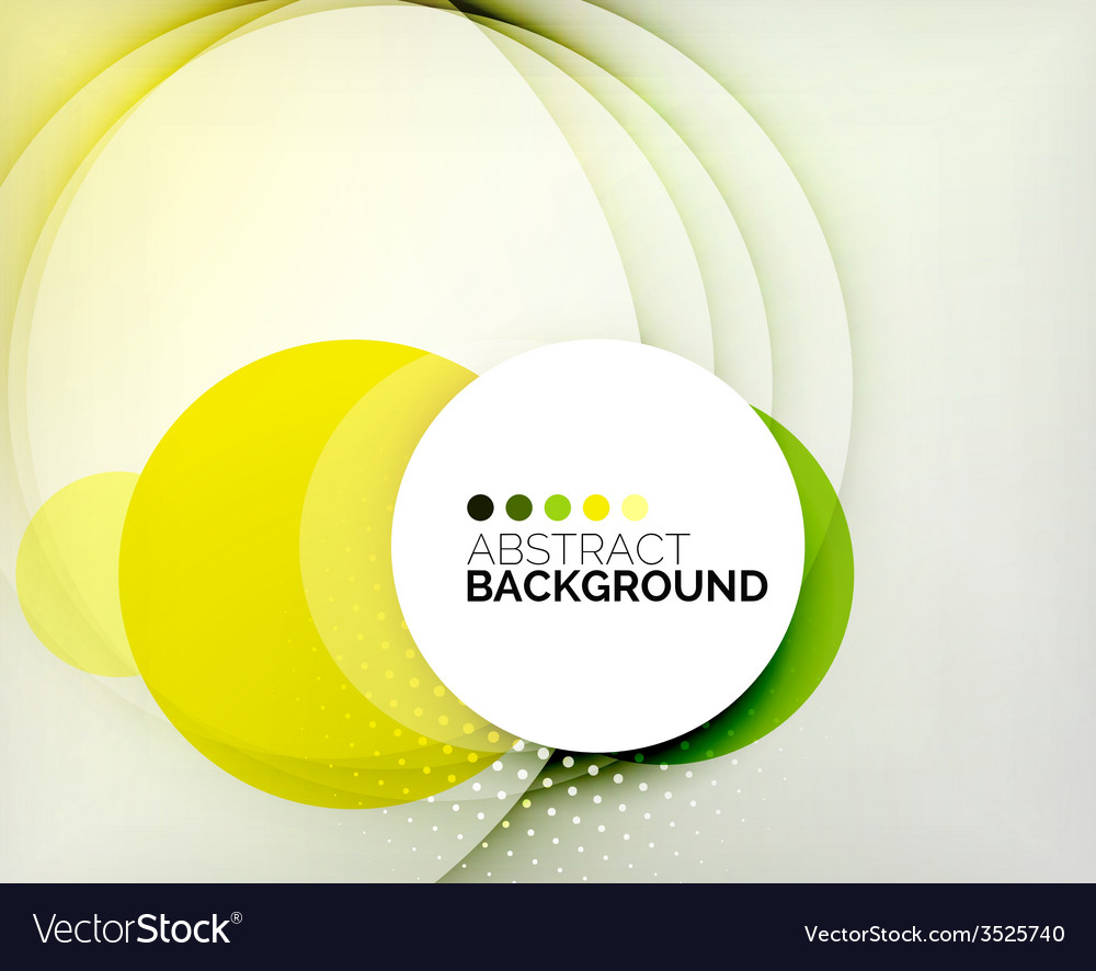 Color circles composition vector | Price: 1 Credit (USD $1)