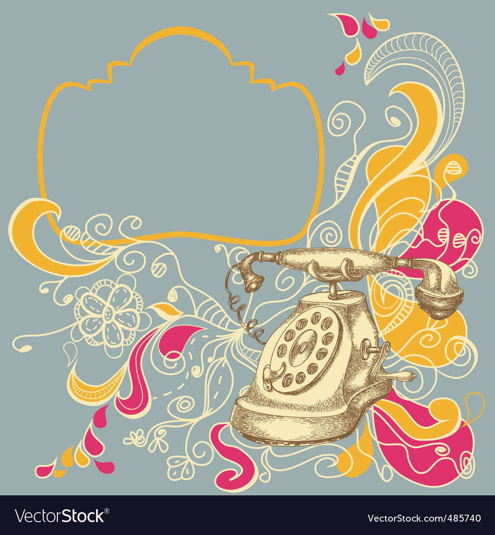 Funky retro telephone vector | Price: 1 Credit (USD $1)