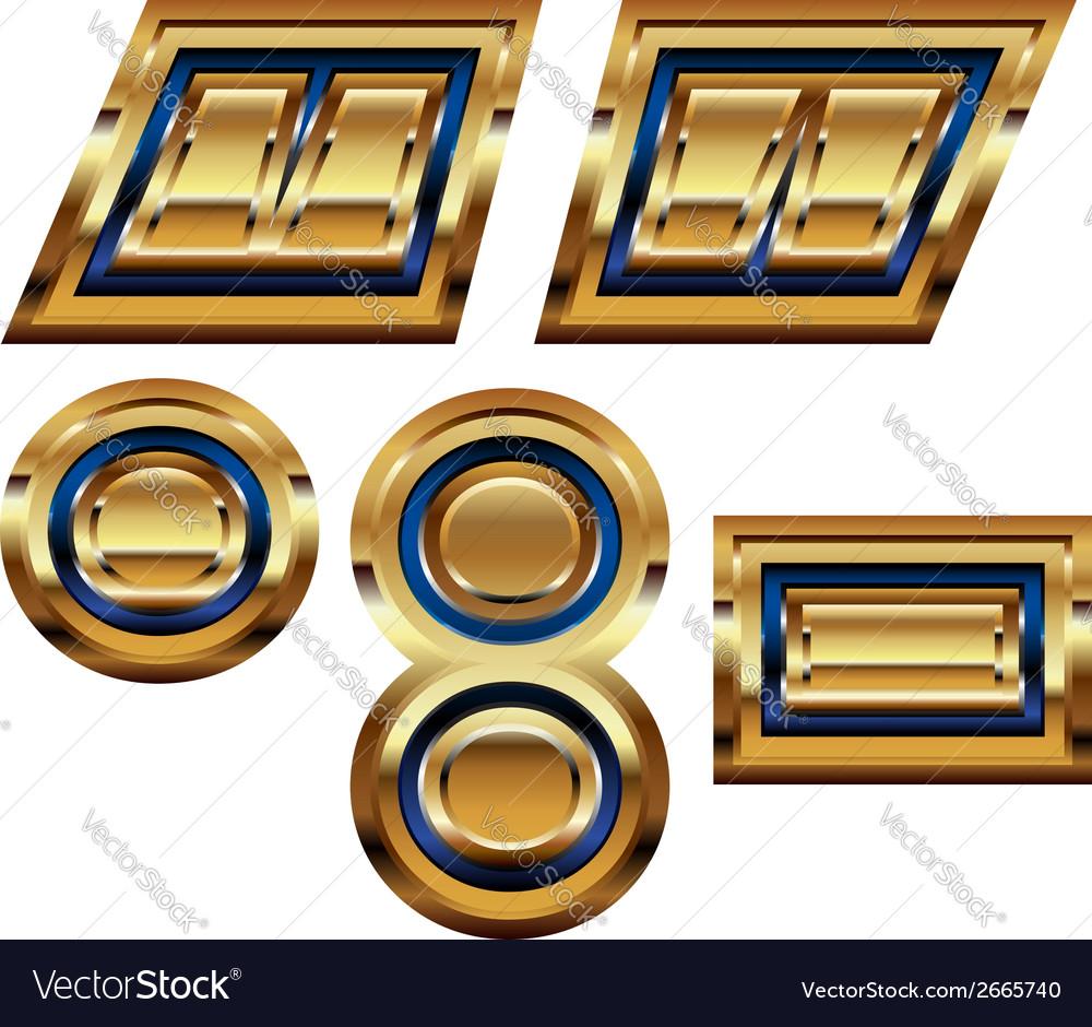 Golden font symbol vector | Price: 1 Credit (USD $1)