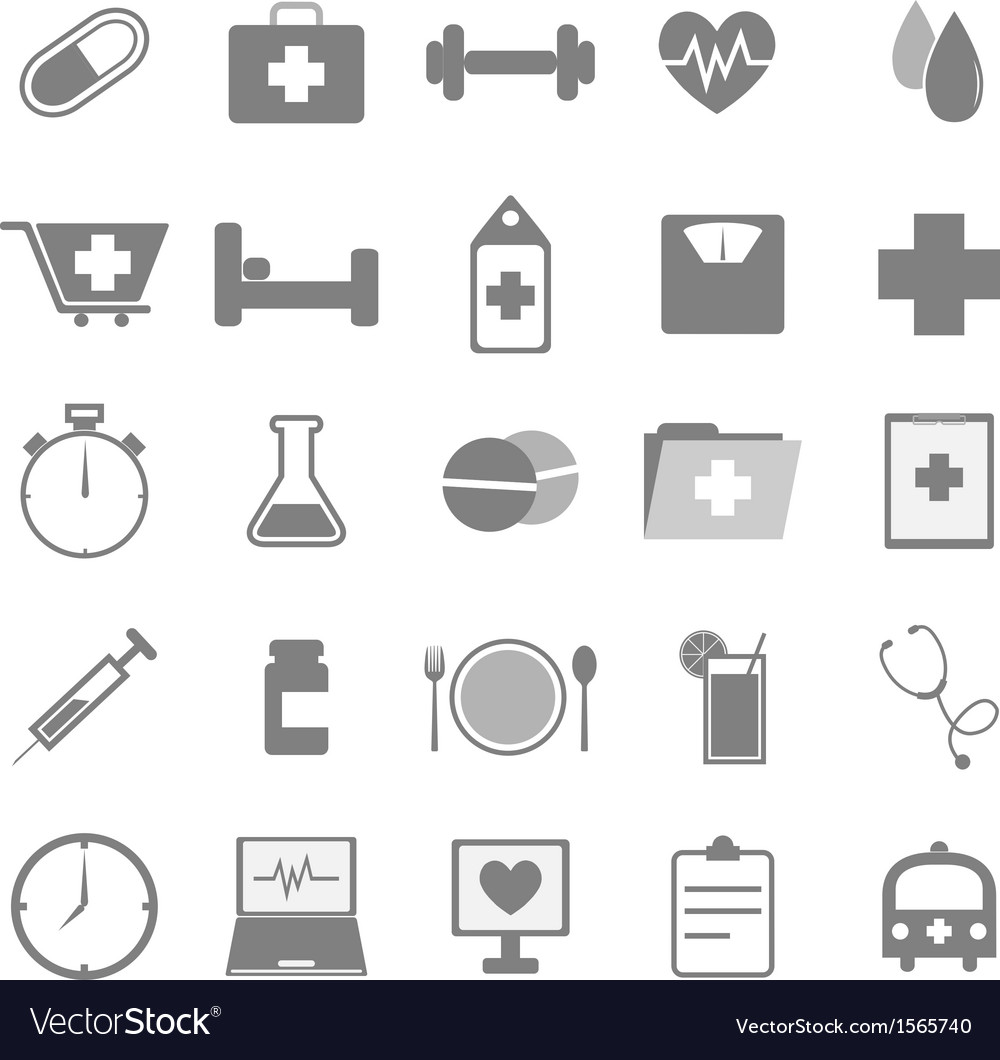 Health icons on white background vector | Price: 1 Credit (USD $1)