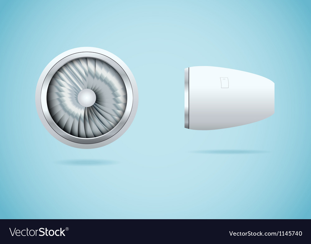 Jet engine vector | Price: 1 Credit (USD $1)