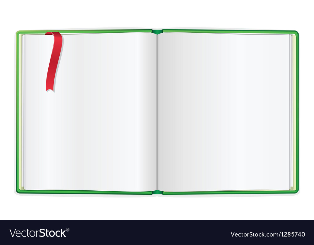 Opened book blank vector   Price: 1 Credit (USD $1)